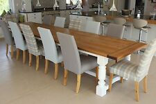 8,10,12 + seater, 5 leg, Triple Dining Table. Infinity Range, any colour