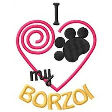 "I ""Heart"" My Borzoi Long-Sleeved T-Shirt 1313-2 Size S - Xxl"