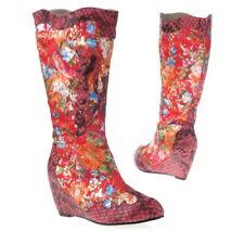 bottes compensées originale fleurie fleurs rouge nouvelle collection femme 37