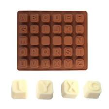 Candy Silicone Chocolate Mold Alphabet ABC Design Cake Tray Bake mould ICE Cube