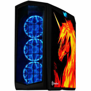 Silverstone SST-PM01B-FX (RGB LED + graphics side panel + tempered glass window)