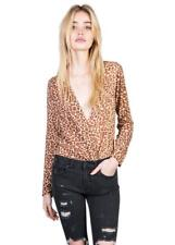 THE PEOPLE VS I AM LEOPARD CROSSOVER SLOUCH WRAP TOP 8 / XS New General Pants