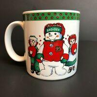 Vintage Snowden Raggedy Ann & Andy Mug Coffee Tea Cocoa Cup Sakura 1998 Holiday