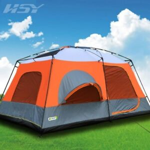 12 Person 3 Room Instant Cabin Large ent Waterproof Outdoor Camping Private Room
