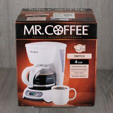Mr. Coffee 4 Cup Switch Coffee Maker White New in Box