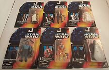 Lot of 6 Star Wars The Power of the Force Action Figures ~Han~Leia~Luke~Vader~