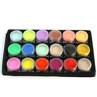 18 Mix COLORS ACRYLIC POWDER Dust SET for NAIL ART False French TIPS ARTIST