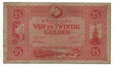NETHERLANDS 25 GULDEN 1930 PICK 46 LOOK SCANS