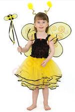 CHILDRENS BUMBLEBEE FANCY DRESS UP COSTUME WINGS WAND HALLOWEEN GIRL CHILD FUN