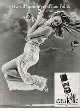 PUBLICITE  1978   GUY LAROCHE  EAU FOLLE parfum