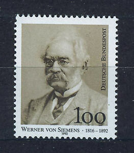 Germania/Repubblica West Germany 1992 MNH SC.1768 W.Siemens, Electrical Engineer