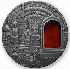 Palau 2012 Moscow Kremlin Art Amber 10 Dollars 2oz Silver Coin