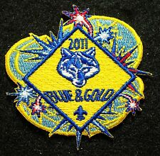 """BSA 2011""""Blue & Gold"""" Cub Scout Dinner official B.S.A. issued event Patch"""
