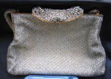 Vintage WALBORG Purse Evening Bag Made in France Beaded Wirework Bead Handmade