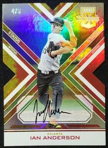 🔥IAN ANDERSON🔥4/5🔥2016 Panini ELITE EXTRA EDITION🔥STATUS🔥RED & GOLD Die-Cut