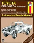Haynes Manuals: Toyota Pick-Ups and 4-Runner, 1979-1995 by John Haynes and Inc. Editors Haynes Manuals (1984, Paperback)