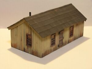 S Scale Scratch Built Bunk House Sn3 Sn2 American Flyer Size 1:64 Weathered