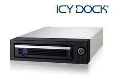 "New ICY Dock MB876SK-B EZ-Tray 2.5"" 3.5"" SATA SAS SSD HDD Hard Drive Mobile Rack"