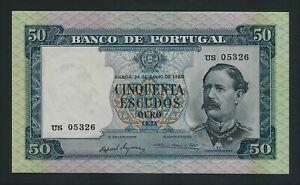 PORTUGAL RARE 50 ESCUDOS 1960    P-164  GEM UNC