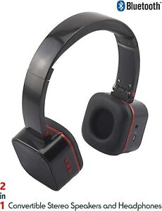 Dual Function 2 in 1 Bluetooth Headphone Speaker Wireless Wired Noise Isolation