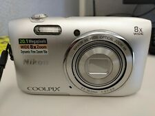 NIKON Coolpix 20.1 MP Digital Camera S3600 8X Wide Optical Zoom VR w Accessories