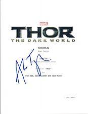 Alan Taylor Signed Autographed THOR THE DARK WORLD Full Movie Script COA VD