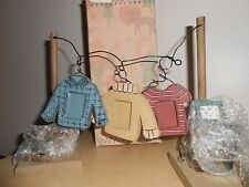 Wood Clothes Line Photo Holder Rustic Primitive LTD Commodities Wash Tub Iron