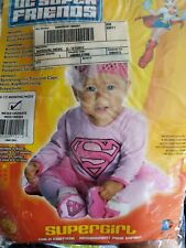 Supergirl Pink Super Friends Superhero  Dress Halloween Baby 6-12 months Costume
