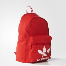 NWT adidas Originals UNISEX TRICOT CLASSIC BACKPACK SCHOOL BAG VIVID RED  LAST1