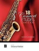 18 CONCERT ETUDES Rae Solo Saxophone