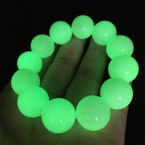 """Glow In The Dark"" Tibetan Wealth-God Ancient Luminous Stone Bracelets 90G 16mm"