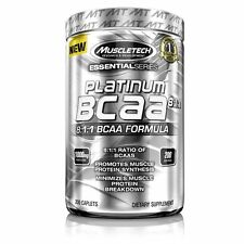 MuscleTech Essential Series Platinum BCAA 8:1:1 200 Caplets 2018 Expiration