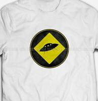 RETRO UFO FLYING SAUCER ALIENS EXTRA TERRESTRIAL 100% Cotton Mens T-shirts Tee
