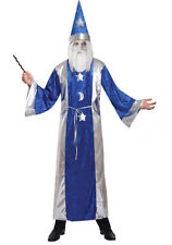 Adult Wizard Costume Fancy Dress Outfit Mens Ladies Magician Halloween NEW 42-44