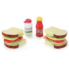 Country Club Sandwich Playset Pretend Play 16pc
