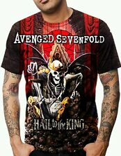 ALLOVER PRINT MULTICOLOR AVENGED SEVENFOLD GRAPHIC HEAVY METAL T-SHIRT All SIZES