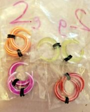 LOT OF FOUR 2g Acrylic Earrings Talons stretch and wear! NEW body jewelry