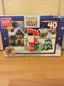 Block Tech Build Your Own Christmas SANTA Figure - BRAND NEW IN BOX - LEGO