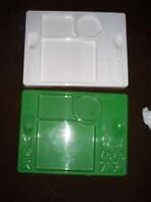 Pillsbury Doughboy Childs Tray - plate with fork, knife, and spoon - Green Giant