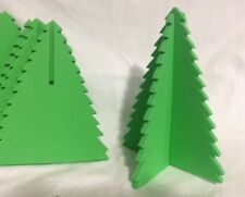 """NEW Lot of 5 Stand Up Green Foam Christmas Trees for Crafts - 7"""" tall"""