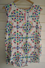 BNWT Supre Women's 'Kaleidoscope Piper Tank' Top - Size 10