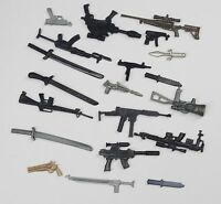"random lot 20 GI Joe Cobra 3.75""  figure's  Accessories Guns sword  Weapons #G5"