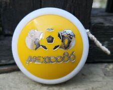 VTG 1980's MEXICAN YO-YO YELLOW PLASTIC TOY FIFA SOCCER WORLD CUP MEXICO 1986