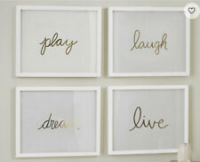 Pottery Barn Kids Gold Sentiment Framable Inserts