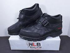 Polo Ralph Lauren Dover 2 Black Boots Men's Sz 9.5 D