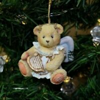 Cherished Teddies Enesco Vintage Angel Bear & Harp Holiday Christmas Ornament