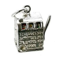 STERLING SILVER MOVING FRUIT/SLOT MACHINE CHARM
