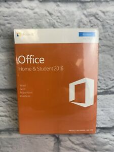 Microsoft Office Home & Student 2016 1 User PC Key Card English 79G-04597 New