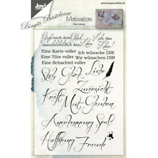 Joy!Crafts Clear Stamps Textstempel Motivation Glück Liebe 6410/0452 Text
