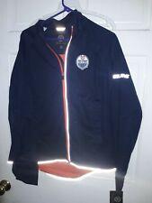 Edmonton Oilers Hockey Windbreaker Jacket NHL Canada coat apparel NEW Women's XL